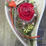 Keramikherz mit ewiger Rose
